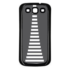 Minimalist Stairs White Grey Samsung Galaxy S3 Back Case (black) by Mariart