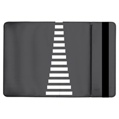Minimalist Stairs White Grey Ipad Air Flip by Mariart