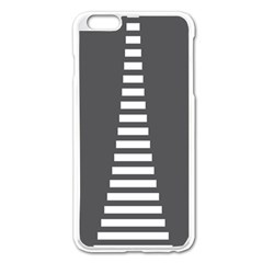 Minimalist Stairs White Grey Apple Iphone 6 Plus/6s Plus Enamel White Case by Mariart