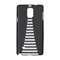 Minimalist Stairs White Grey Samsung Galaxy Note 4 Hardshell Case by Mariart