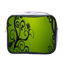 Illustration Wallpaper Barbusak Leaf Green Mini Toiletries Bags by Mariart