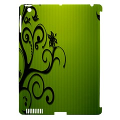 Illustration Wallpaper Barbusak Leaf Green Apple Ipad 3/4 Hardshell Case (compatible With Smart Cover) by Mariart