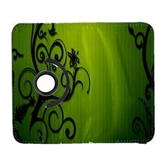 Illustration Wallpaper Barbusak Leaf Green Galaxy S3 (flip/folio) by Mariart