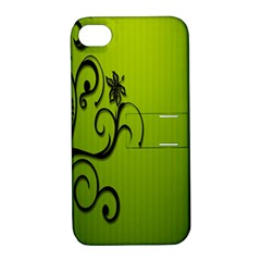 Illustration Wallpaper Barbusak Leaf Green Apple Iphone 4/4s Hardshell Case With Stand by Mariart