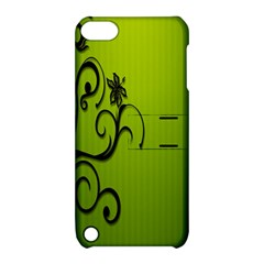 Illustration Wallpaper Barbusak Leaf Green Apple Ipod Touch 5 Hardshell Case With Stand by Mariart