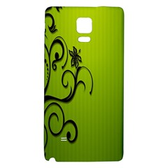 Illustration Wallpaper Barbusak Leaf Green Galaxy Note 4 Back Case by Mariart