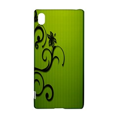 Illustration Wallpaper Barbusak Leaf Green Sony Xperia Z3+ by Mariart