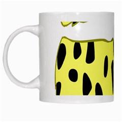 Leopard Polka Dot Yellow Black White Mugs by Mariart