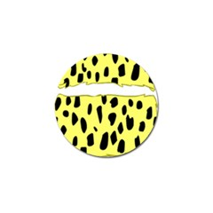 Leopard Polka Dot Yellow Black Golf Ball Marker (4 Pack) by Mariart