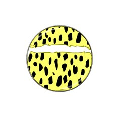 Leopard Polka Dot Yellow Black Hat Clip Ball Marker by Mariart