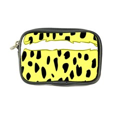 Leopard Polka Dot Yellow Black Coin Purse by Mariart