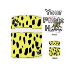 Leopard Polka Dot Yellow Black Playing Cards 54 (Mini)  Front - SpadeA