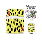 Leopard Polka Dot Yellow Black Playing Cards 54 (Mini)  Front - Heart8