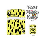 Leopard Polka Dot Yellow Black Playing Cards 54 (Mini)  Front - Club6