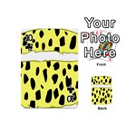Leopard Polka Dot Yellow Black Playing Cards 54 (Mini)  Front - Club10
