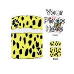 Leopard Polka Dot Yellow Black Playing Cards 54 (Mini)  Front - ClubA