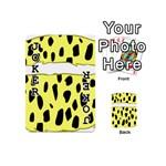 Leopard Polka Dot Yellow Black Playing Cards 54 (Mini)  Front - Joker1