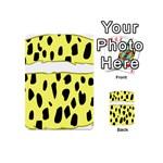 Leopard Polka Dot Yellow Black Playing Cards 54 (Mini)  Back