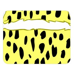 Leopard Polka Dot Yellow Black Double Sided Flano Blanket (large)  by Mariart