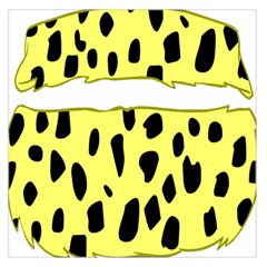 Leopard Polka Dot Yellow Black Large Satin Scarf (square) by Mariart