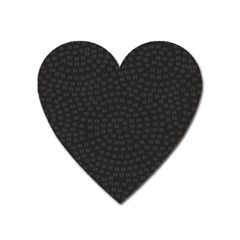 Oklahoma Circle Black Glitter Effect Heart Magnet by Mariart