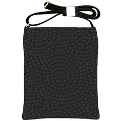 Oklahoma Circle Black Glitter Effect Shoulder Sling Bags by Mariart