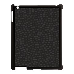 Oklahoma Circle Black Glitter Effect Apple Ipad 3/4 Case (black) by Mariart