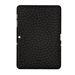 Oklahoma Circle Black Glitter Effect Samsung Galaxy Tab 2 (10 1 ) P5100 Hardshell Case  by Mariart