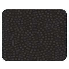 Oklahoma Circle Black Glitter Effect Double Sided Flano Blanket (medium)  by Mariart