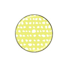 Polkadot White Yellow Hat Clip Ball Marker (10 pack) by Mariart