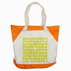 Polkadot White Yellow Accent Tote Bag by Mariart