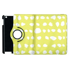 Polkadot White Yellow Apple Ipad 2 Flip 360 Case by Mariart