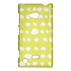 Polkadot White Yellow Nokia Lumia 720 by Mariart