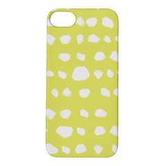 Polkadot White Yellow Apple Iphone 5s/ Se Hardshell Case by Mariart
