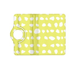 Polkadot White Yellow Kindle Fire Hd (2013) Flip 360 Case by Mariart