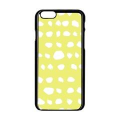 Polkadot White Yellow Apple Iphone 6/6s Black Enamel Case by Mariart