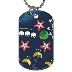 Origami Flower Floral Star Leaf Dog Tag (one Side) by Mariart