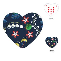 Origami Flower Floral Star Leaf Playing Cards (heart)  by Mariart