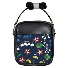 Origami Flower Floral Star Leaf Girls Sling Bags by Mariart