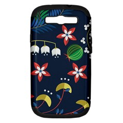 Origami Flower Floral Star Leaf Samsung Galaxy S Iii Hardshell Case (pc+silicone) by Mariart