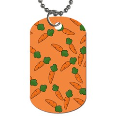 Carrot Pattern Dog Tag (one Side) by Valentinaart