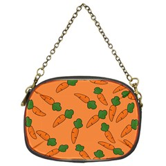 Carrot Pattern Chain Purses (one Side)  by Valentinaart