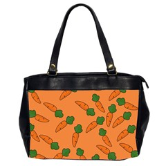 Carrot Pattern Office Handbags (2 Sides)  by Valentinaart