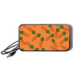 Carrot Pattern Portable Speaker (black) by Valentinaart