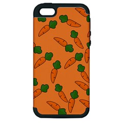 Carrot Pattern Apple Iphone 5 Hardshell Case (pc+silicone) by Valentinaart