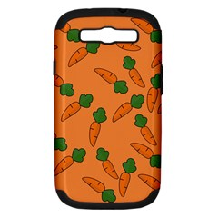 Carrot Pattern Samsung Galaxy S Iii Hardshell Case (pc+silicone) by Valentinaart