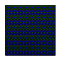 Split Diamond Blue Green Woven Fabric Tile Coasters by Mariart