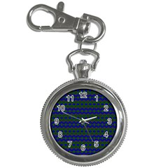 Split Diamond Blue Green Woven Fabric Key Chain Watches by Mariart
