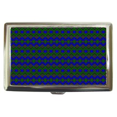 Split Diamond Blue Green Woven Fabric Cigarette Money Cases by Mariart