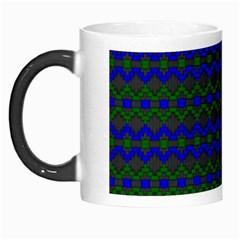 Split Diamond Blue Green Woven Fabric Morph Mugs by Mariart